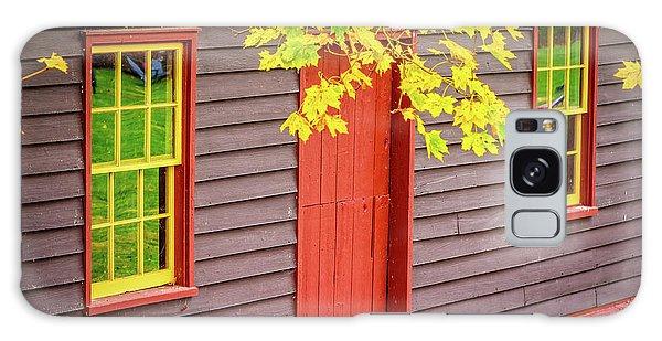 Red Mill Door In Fall Galaxy Case