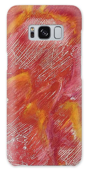 Red Monoprint One Galaxy Case