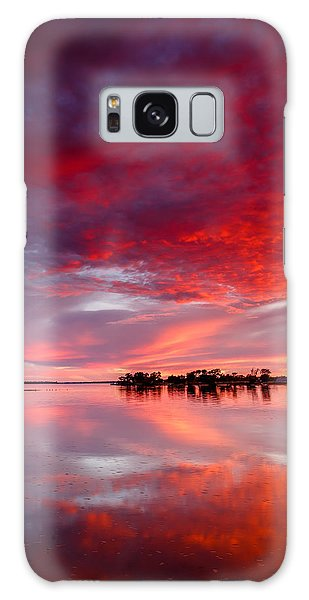 Red Morning Galaxy Case