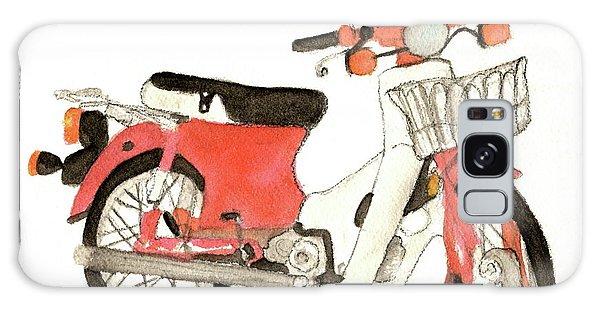 Red Motor Bike Galaxy Case