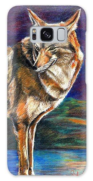 Red Mountain Wolf Galaxy Case by John Keaton