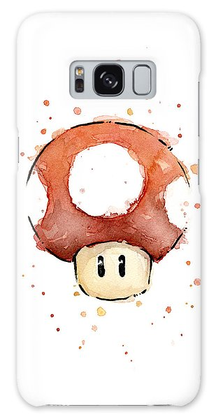 Mushroom Galaxy S8 Case - Red Mushroom Watercolor by Olga Shvartsur