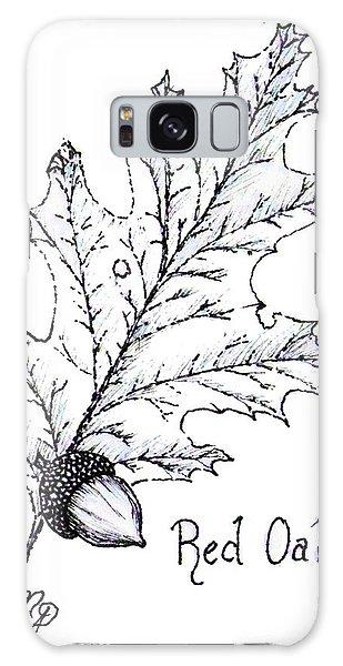 Red Oak Leaf And Acorn Galaxy Case