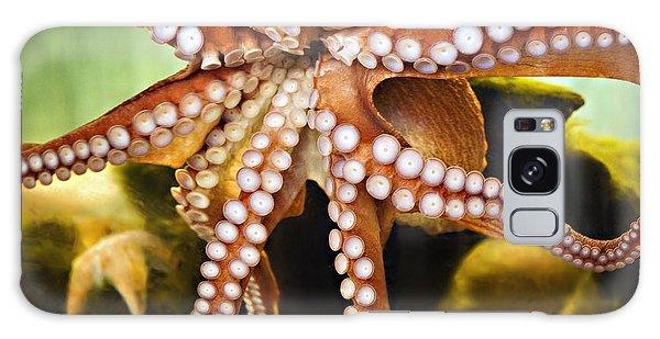 Red Octopus Galaxy Case