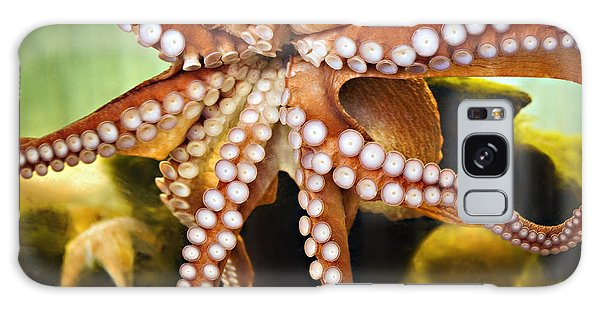 Red Octopus Galaxy Case