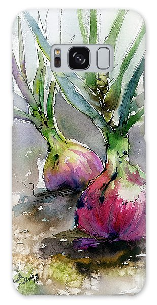 Red Onions Watercolors Galaxy Case