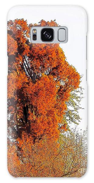 Red-orange Fall Tree Galaxy Case