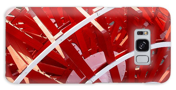 Red Paddle Wheel Galaxy Case by Art Block Collections
