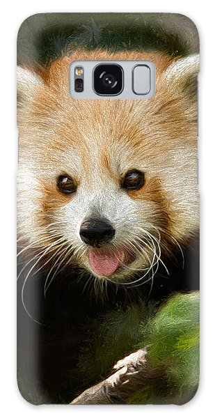 Red Panda Galaxy Case by Lana Trussell