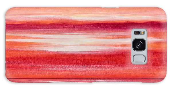 Red Panoramic Abstract Sunset Galaxy Case