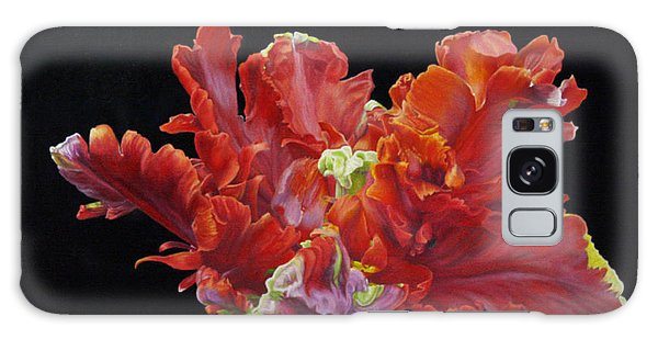 Red Parrot Tulip - Oils Galaxy Case