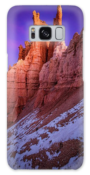Beautiful Sunrise Galaxy Case - Red Peaks by Edgars Erglis