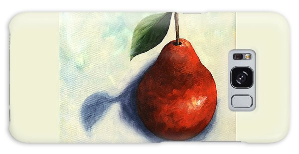 Red Pear In The Spotlight Galaxy Case