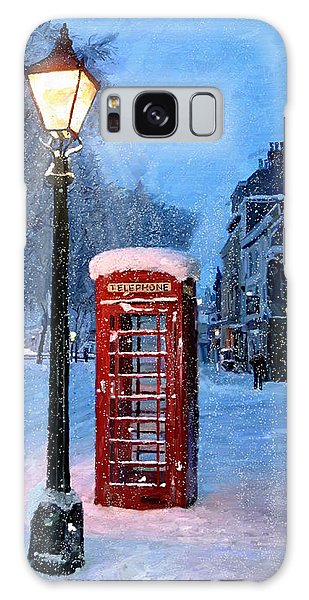 Red Phone Box Galaxy Case by James Shepherd