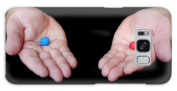 Red Pill Blue Pill Galaxy Case by Semmick Photo