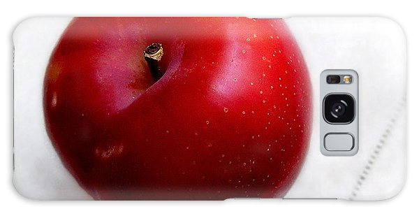Red Plum On A White Cloth Galaxy Case