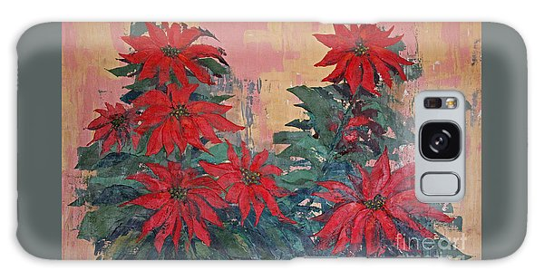 Red Poinsettias By George Wood Galaxy Case