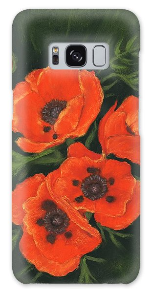 Galaxy Case featuring the painting Red Poppies by Anastasiya Malakhova