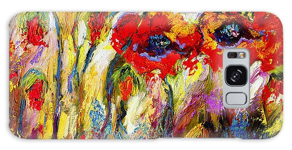 Red Poppies And Bees Provence Dreams Galaxy Case