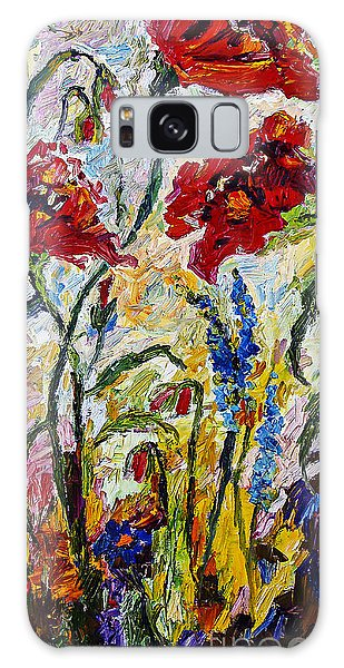 Red Poppies And Bees Provence Galaxy Case by Ginette Callaway