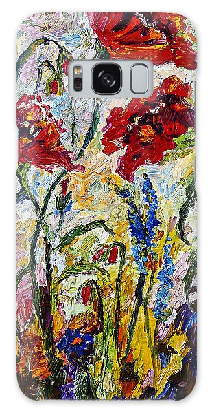 Red Poppies And Bees Provence Galaxy Case