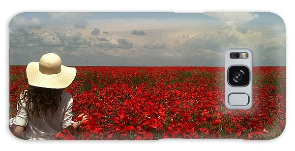 Red Poppies And Lady Galaxy Case