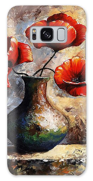 Red Poppies Galaxy Case by Emerico Imre Toth