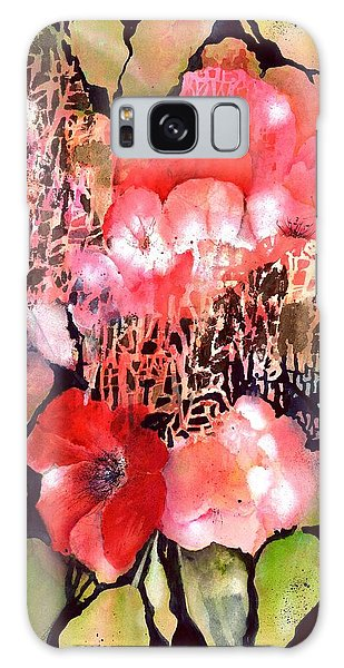 Red Poppy Flowers Galaxy Case