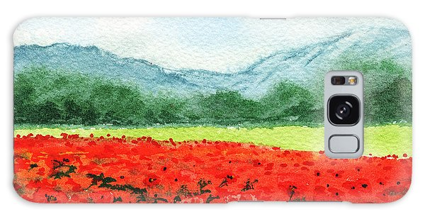 Outdoor Dining Galaxy Case - Red Poppies Field by Irina Sztukowski