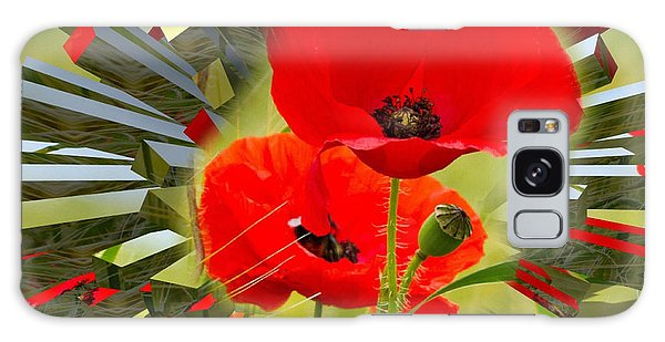 Red Poppies Go Digital Galaxy Case