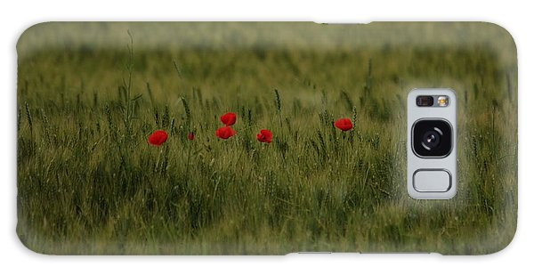 Red Poppies In Meadow Galaxy Case