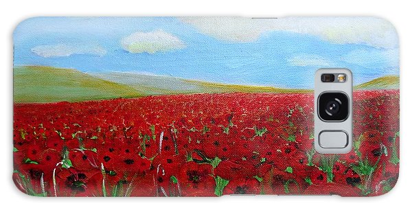 Red Poppies In Remembrance Galaxy Case