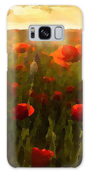 Red Poppies In The Sun Galaxy Case