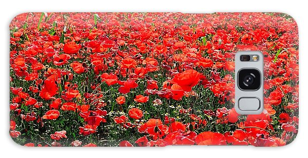 Red Poppies Galaxy Case by Juergen Weiss