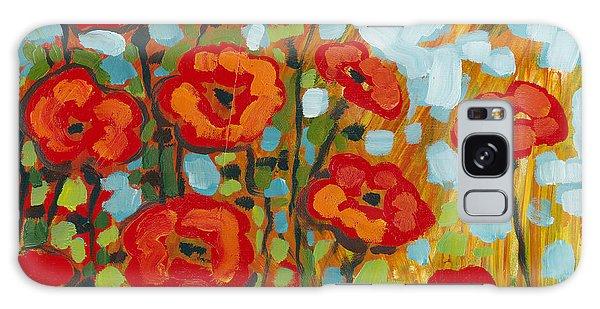 Floral Garden Galaxy Case - Red Poppy Field by Jennifer Lommers