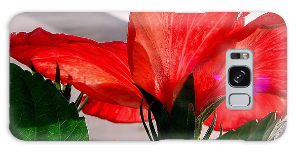 Red Poppy Galaxy Case by Robert Knight