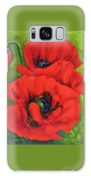 Red Poppy Seed Packet Galaxy Case