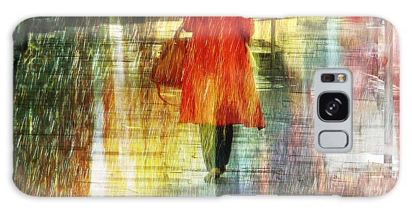 Red Rain Day Galaxy Case by LemonArt Photography