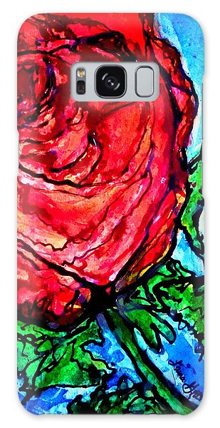Red Red Rose Galaxy Case by Laura  Grisham