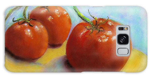 Red Ripe And Ready Galaxy Case by Laurie Morgan