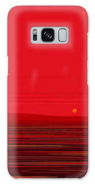 Red Ripple II Galaxy Case by Val Arie
