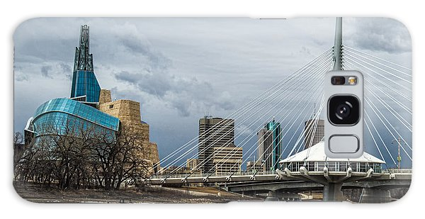 Red River At Winnipeg Galaxy Case
