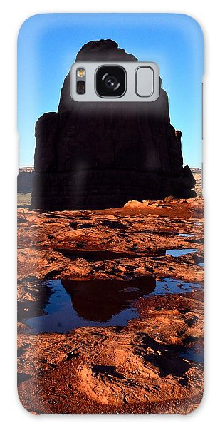 Red Rock Reflection At Sunset Galaxy Case