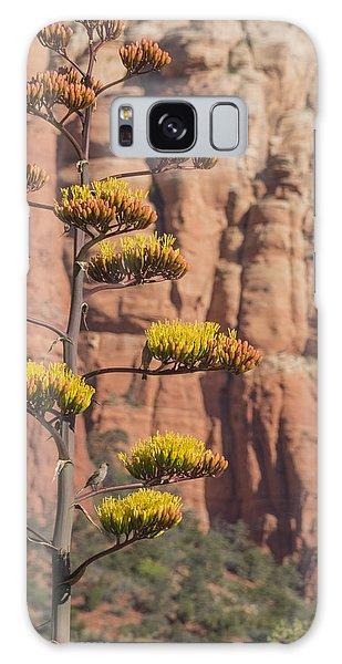 Red Rocks And Century Plant Galaxy Case by Laura Pratt