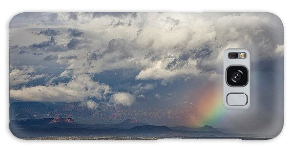 Red Rocks Rain And Rainbow Galaxy Case