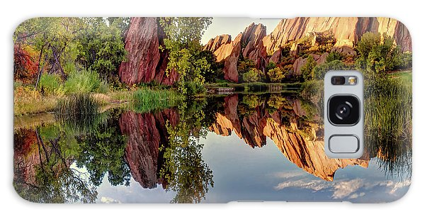 Red Rocks Reflection Galaxy Case