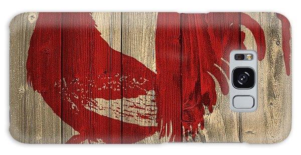 Rustic Galaxy Case - Red Rooster Barn Door by Dan Sproul