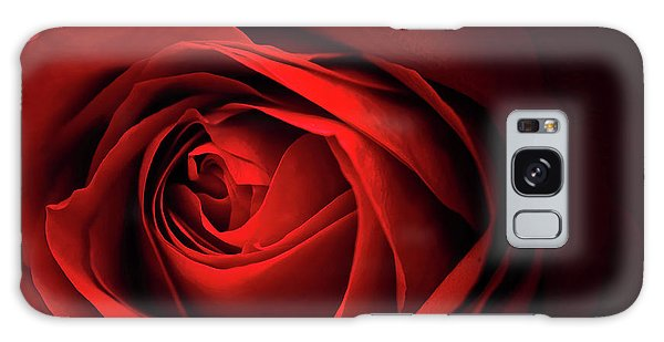 Red Rose Close Galaxy Case by Charline Xia