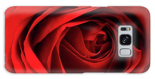 Red Rose Flower Galaxy Case by Charline Xia