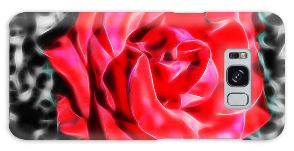Red Rose Fractal Galaxy Case